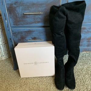 Flex Suedette Chinese laundry knee high boots